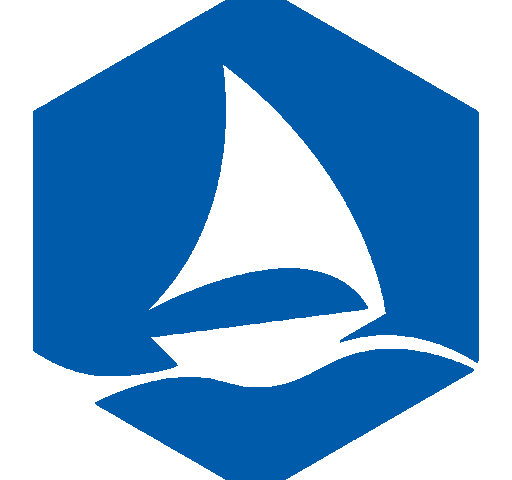 Graphene Flagship blue hexagon logo
