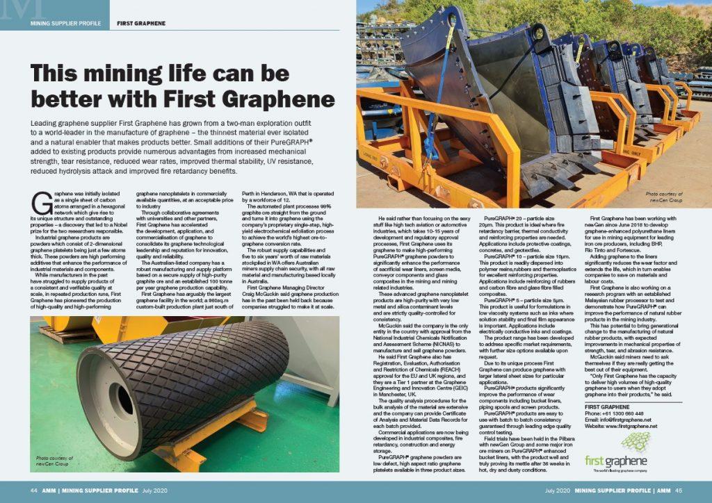 First Graphene Mining Supplier Profile - AMM