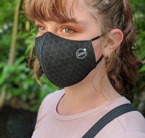 Photograph of lady wearing 2AM mask