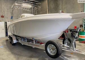 The Ascent Shipwright 23ft centre console pleasure boat.