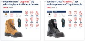 The Steel Blue Southern Cross ® GraphTEC™ safety boots.